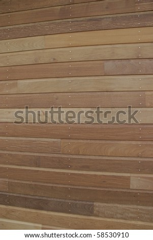 Wooden bardage on a new house Photo stock ©