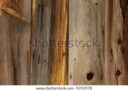 Wooden barn siding