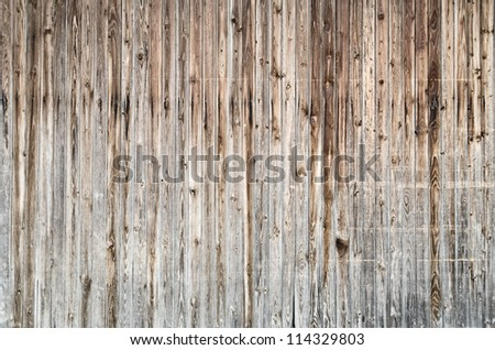 Wooden barn wall