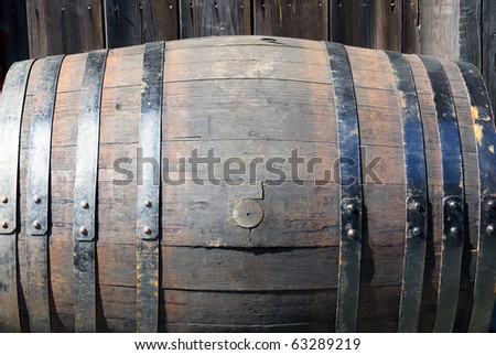 Wooden barrel - stock photo