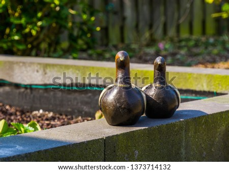 wooden bird statuettes, modern garden decorations, fake ducks to decorate the backyard