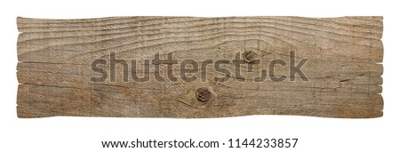 wooden blank sign  on white background
