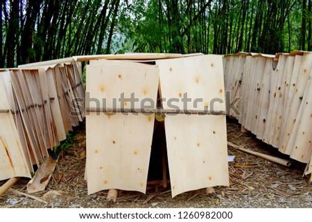 Wooden blanks in Vietnam