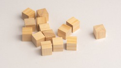 wooden block on table for children to play