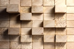 Wooden blocks abstract vintage background concept