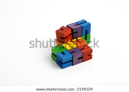 wooden blocks on string to help children focus their attention while studying in class teachers give to students that have learning disorders like adhd