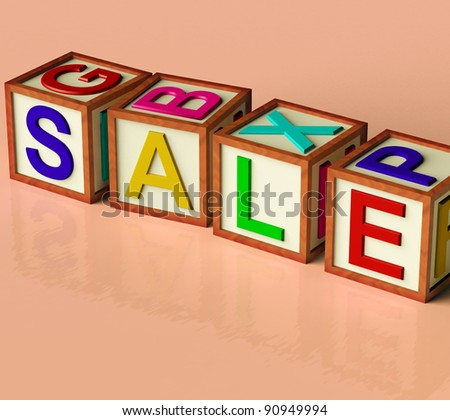 Wooden Blocks Spelling Sale As Symbol for Discounts And Promotions