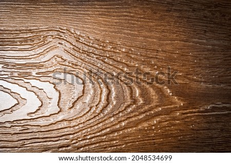 Wooden board as background texture with dark vignetting Stockfoto ©