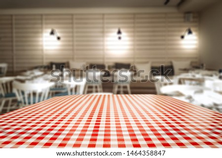 Wooden board of free space and bar background  #1464358847