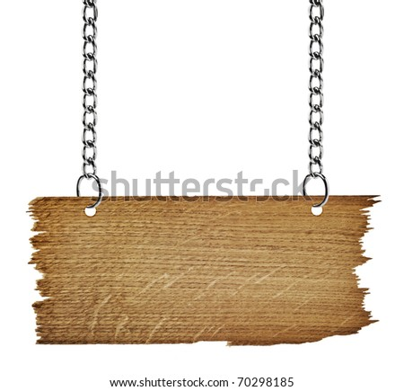 wooden board on white