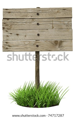 Wooden board sign (3d illustration)