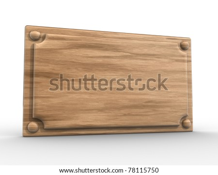 wooden board - This is a 3d render illustration