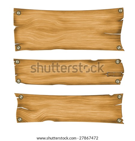 wooden boards for posters