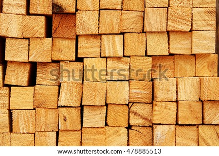 Wooden boards in a warehouse of building materials #478885513