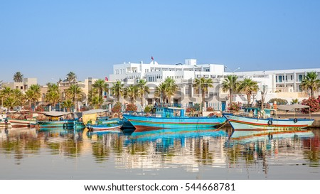 Wooden boats,hammamet tunisia #544668781