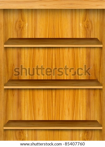 Wooden book shelf background for ebook for modern tablet pc