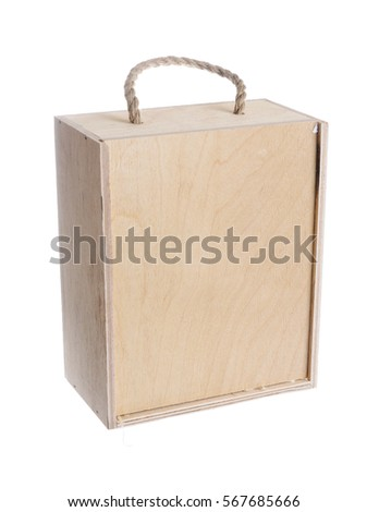 wooden box for product transfer isolated on white background