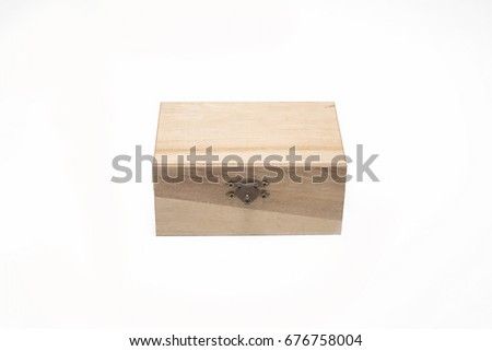 Wooden box for wine on white background.