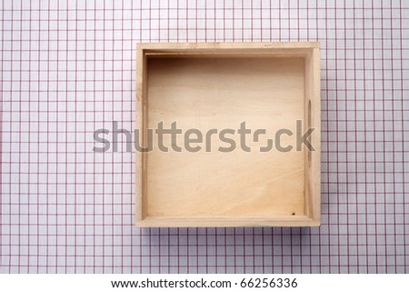 Wooden box isolated on the background.