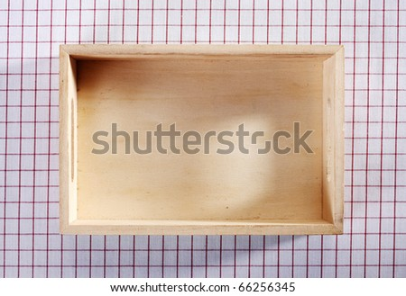 Wooden box isolated on the background. - stock photo