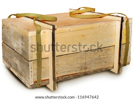 Wooden box with handles