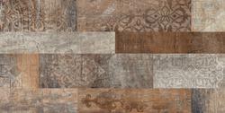 Wooden bricks with geometric pattern decor background, wooden pattern decor texture