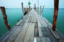 wooden bridge to the sea.