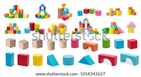 Wooden building blocks. ストックフォト ©