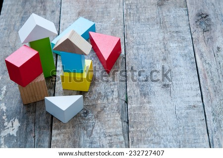 Wooden building blocks #232727407
