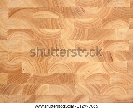Wooden butcher's block background, new and without knife marks.