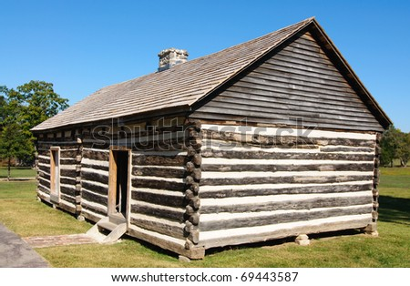 wooden cabin at the Hermitage