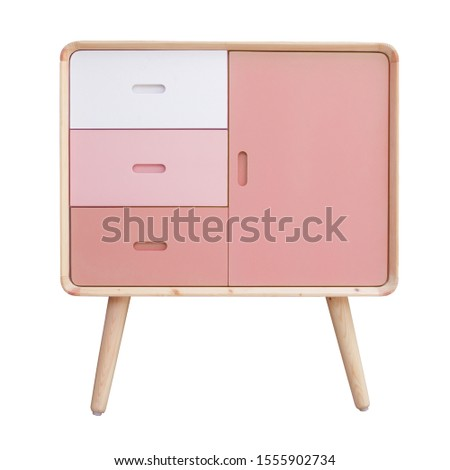 Wooden cabinet isolated on white background. Interior design Inspiration. Furniture modern inspiration. Home living. Wooden Wardrobe inspiration.