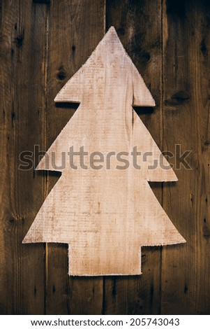 wooden carved christmas tree...