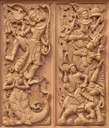 Wooden carved thai style