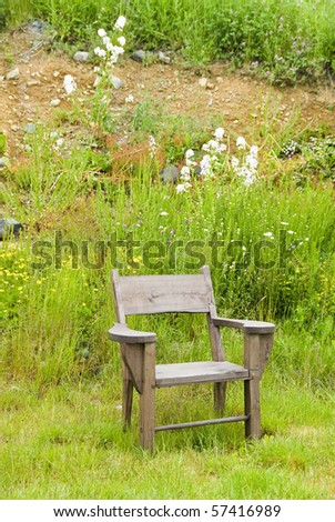 Wooden Chair by the Hill Side