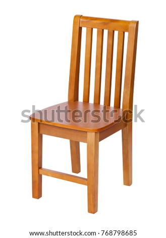 Wooden chair isolated over white, with clipping path #768798685