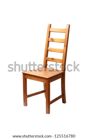 Wooden chair. Isolated with clipping path.