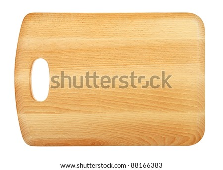 Wooden Chopping Board Isolated on White