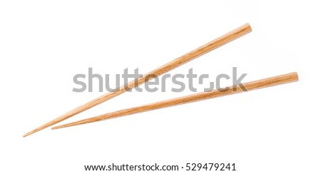 Wooden chopsticks isolated on white background Stock photo ©