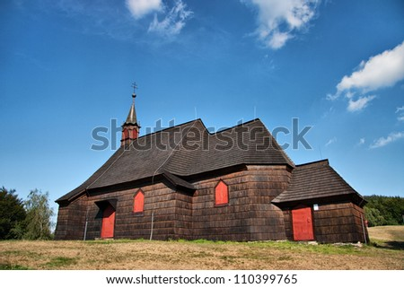 Wooden church of St. Anthony, Beskydy mountains, Czech republic