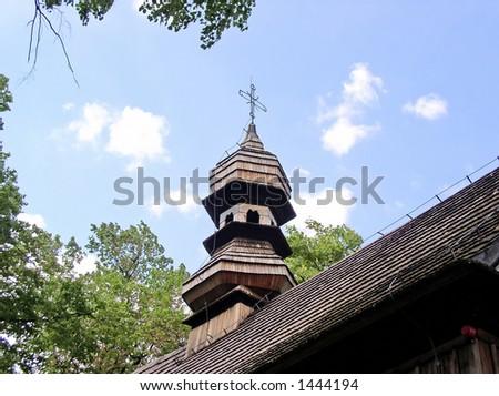 wooden church - roof
