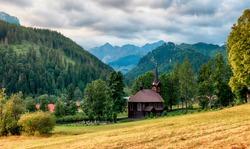 Wooden church, Tatranska Javorina, High Tatra Mountains, Western Carpathians, Slovakia