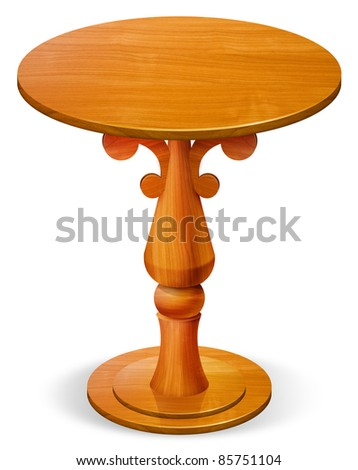 wooden circle table