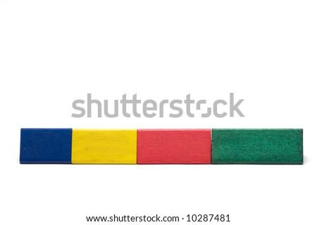 wooden color bricks