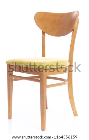 Wooden comfortable chair  on white background isolated #1164556159