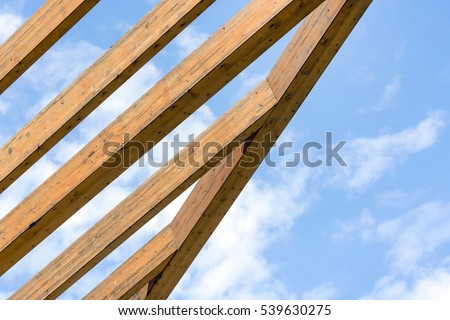 wooden construction of the...