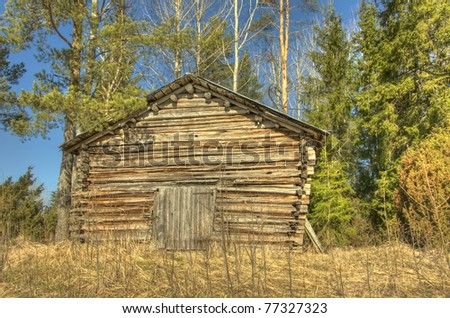 Wooden country barn