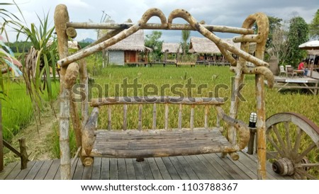 Wooden cradle bamboo #1103788367