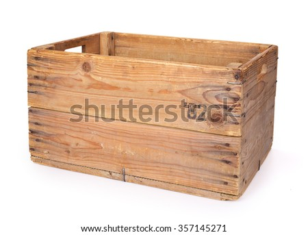 Wooden crate. Contains clipping path. #357145271