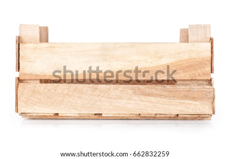 wooden crate isolated on white background #662832259